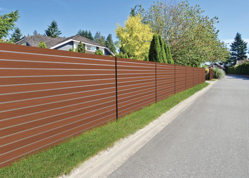 Aluminium Fencing, Aluminium fencing slats, fencing, brown fencing, brown aluminium fencing, Marano aluminium fencing